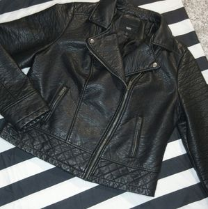 Mossimo Motorcycle Faux Leather Jacket.